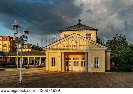 Frantiskovy Lazne,czech Republic - August 20, 2021. Lovely Spa Town In West Bohemia With Empire Styl
