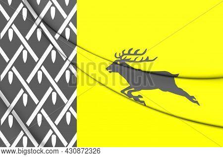3d Flag Of Nunspeet (gelderland), Netherlands. 3d Illustration.