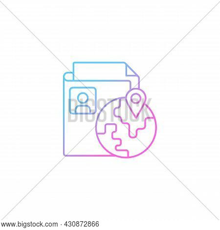 Ethnic Origin Privacy Gradient Linear Vector Icon. Personal Data Security. Protection From Discrimin
