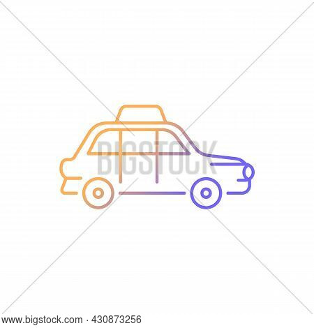 London Cab Gradient Linear Vector Icon. Hackney Carriage. Minicab Service. Public Transportation. Bl