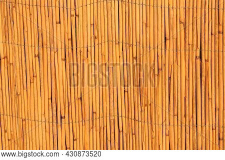 Straw Background Of Yellow Color. Tradition Chinese Texture.