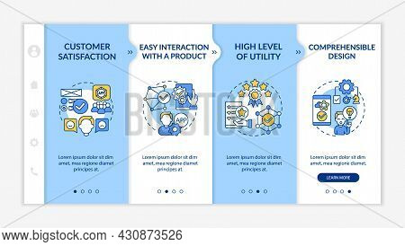 Usability Assessment Onboarding Vector Template. Responsive Mobile Website With Icons. Web Page Walk