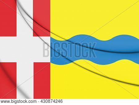 3d Flag Of Stichtse Vecht (utrecht), Netherlands. 3d Illustration.