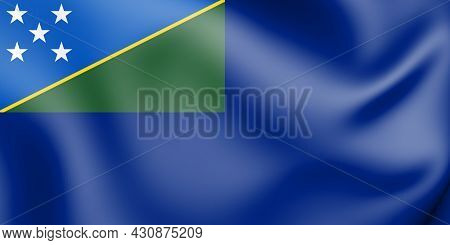 3d Government Ensign Of The Solomon Islands. 3d Illustration.