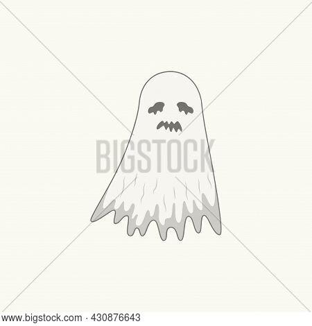 Halloween Cute White Ghost