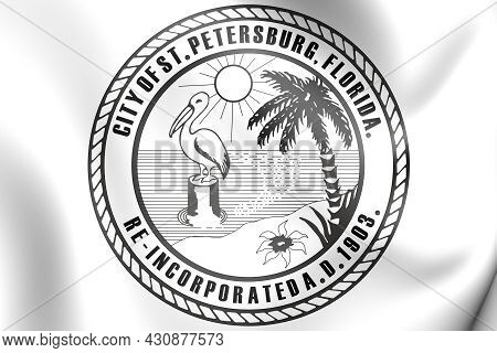 3d Seal Of St Petersburg (florida), Usa. 3d Illustration.