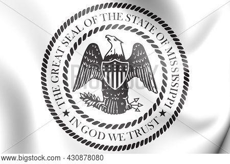 3d State Seal Of Mississippi, Usa. 3d Illustration.