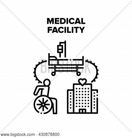 Medical Facility Vector Icon Concept. Medical Facility Building For Patient Treatment And Rehabilita