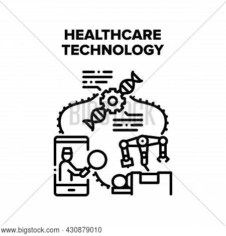 Healthcare Technology Vector Icon Concept. Healthcare Technology For Patient Remote Examining Health