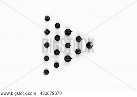 Directly Above Photo, Achieving Goals And Objectives In Business, Chess Pieces As A Team.