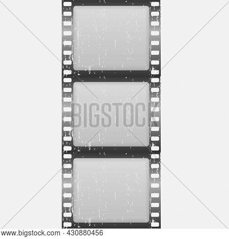 Old Film Movie Timer Countdown, Cinema Strip.