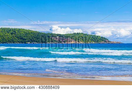 Praia Lopes Mendes Beach On Tropical Island Ilha Grande Brazil.