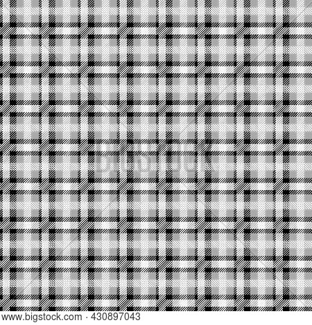Vector Grey Plaid Check Teen Seamless Pattern In Geometric Abstract Style Can Be Used For Summer Fas