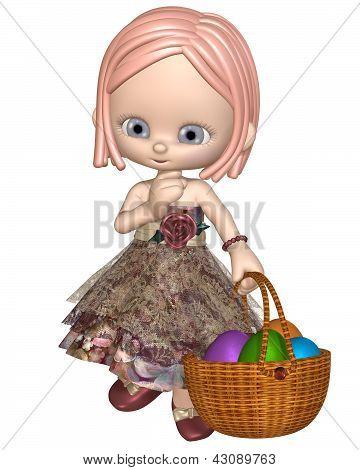 Cute Toon Easter Girl