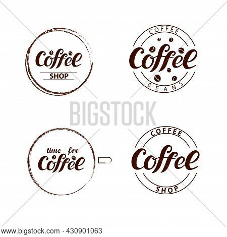 Coffee Shop, Coffee Beans, Time For Coffee, Logo, Circles, Coffee Cup, Brown Stylish Color, Logotype