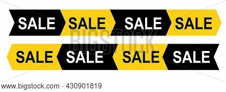 Ribbon With The Text Sale, In The Form Of An Arrow Pointing To The Right Or Left Side. For Sales, Pr