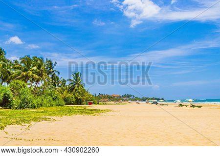 Beautiful Sunny Landscape Panorama From Bentota Beach On Sri Lanka.