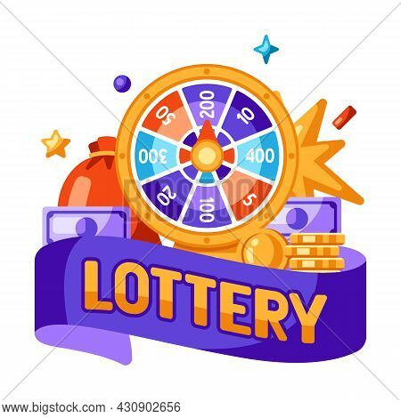 Wheel Of Fortune. Lucky Roulette Illustration. Concept For Online Games.