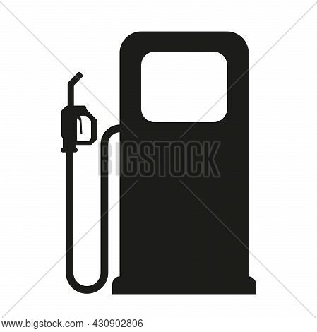 Gas Pump Symbol Isolated On White Background, Vector Illustration