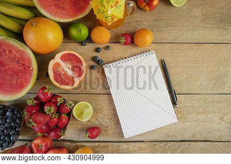 Fresh Fruits. Assorted Fruits Colorful. Fresh Fruits. Healthy Food. Mixed Fruit, Apricots And Peache