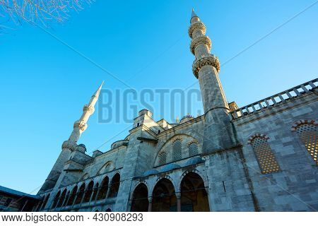 View Of The Blue Mosque, Sultanahmet Camii, In Istanbul, Turkey