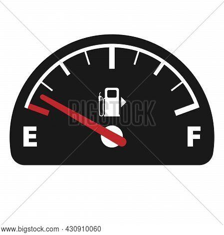 Fuel Gauge Symbol Isolated On White Background, Vector Illustration