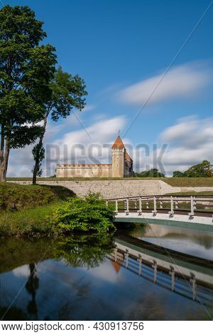Kuressaare, Estonia - 14 August, 2021: View Of The Kuressaare Episcopal Castle On Sareema Island In