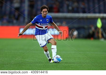 Genova, Italy. 23 August 2021. Emil Audero Of Uc Sampdoria  In Action During The Serie A Match Beetw