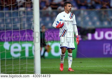 Genova, Italy. 23 August 2021. Emil Audero Of Uc Sampdoria  During The Serie A Match Beetween Uc Sam