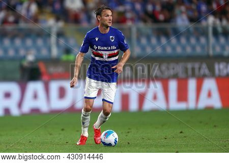 Genova, Italy. 23 August 2021. Albin Ekdal Of Uc Sampdoria  In Action During The Serie A Match Beetw