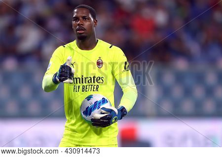 Genova, Italy. 23 August 2021. Mike Maignan Of Ac Milan  During The Serie A Match Beetween Uc Sampdo