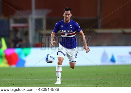 Genova, Italy. 23 August 2021. Maya Yoshida Of Uc Sampdoria   During The Serie A Match Beetween Uc S