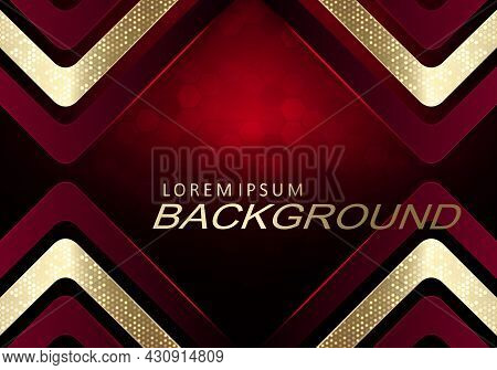 Golden Texture Arrows With Shiny Mosaic, Red Tint Illustration