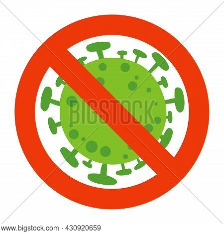 Stop Virus. Sign. Vector Illustration. Isolated On White Background
