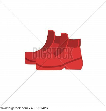 Vector Cartoon Flat Fashionable Boots.new Trendy Beautiful Footwear Isolated On Empty Background-clo