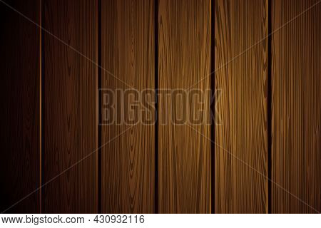 Realistic Wood Texture. Natural Dark Brown Wooden Background. Table, Floor Or Wall Surface. Wallpape