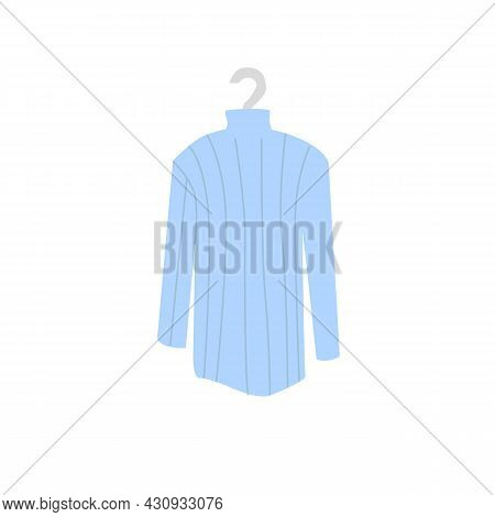 Vector Cartoon Flat Fashionable Jersey On Clothes Hanger.new Trendy Beautiful Apparel Isolated On Em