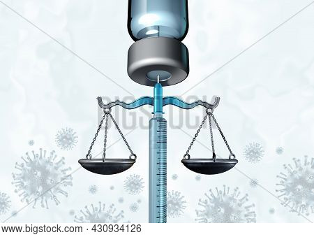 Vaccination Mandate Policy And Vaccine Mandates Law And Regulations Concept As A Syringe Or Needle R