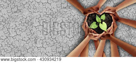 Earth Day Support And Climate Change Drought Protection Or Agriculture Security Or Ecology Unity As