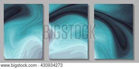 Fluid Art. Modern Artwork Mesh Gradient Background. Mixture Of Colorful Paint Splash Liquid. Abstrac