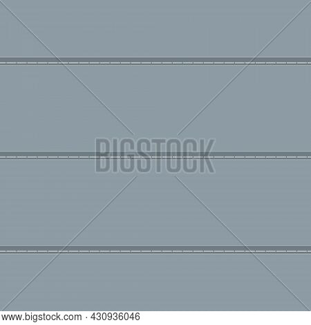 Illustration Of Denim, Fabric With Multiple Stitches. Vector Background