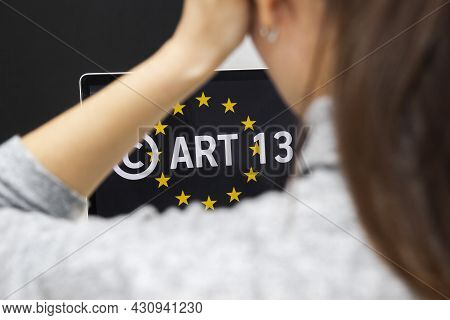 Concept: Eu Directive On Copyright In The Digital Single Market Or Cdsm. Art. 13 Is Known As Meme Ba