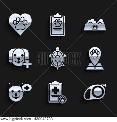 Set Turtle, Retractable Leash Carabiner, Map Pointer Veterinary Medicine Hospital, Veterinary Symbol