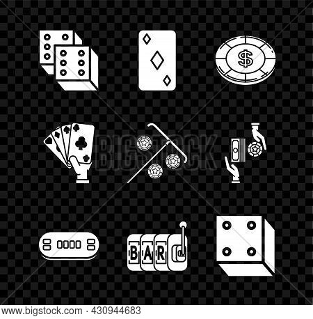 Set Game Dice, Playing Card With Diamonds Symbol, Casino Chip Dollar, Poker Table, Slot Machine, Han