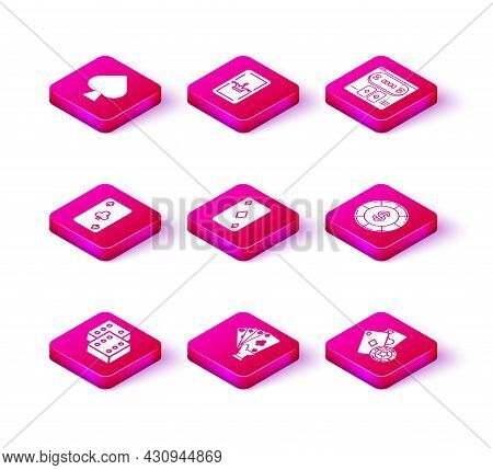 Set Game Dice, Hand Holding Playing Cards, Playing With Clubs Symbol, Diamonds, Casino Chip, Dollar,