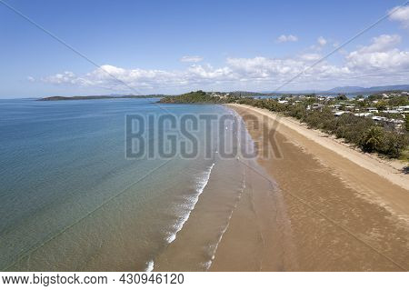 Small Seaside Township Of Sarina Beach On The Coral Sea, Queensland, Australia