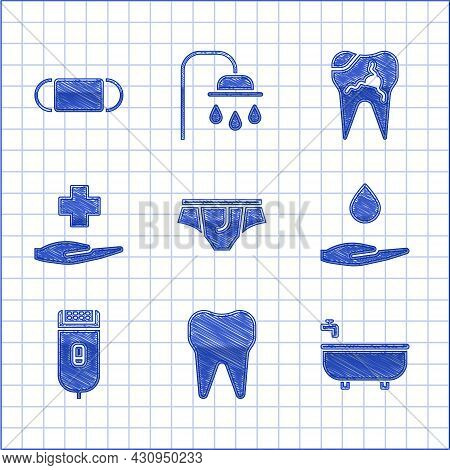 Set Underwear, Tooth, Bathtub, Washing Hands With Soap, Electrical Hair Clipper Or Shaver, Cross Hos