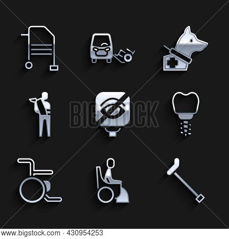 Set Blindness, Woman Wheelchair, Walking Stick Cane, Dental Implant, Wheelchair, Human Broken Arm, G