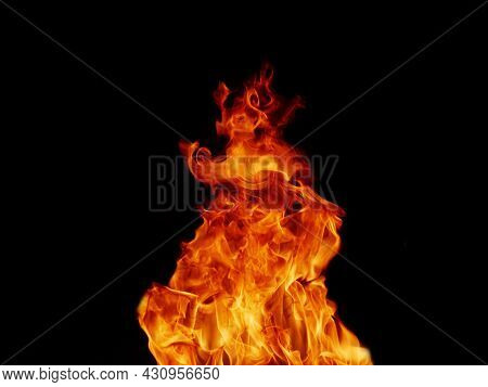 Abstract Black Flame Flame Texture, Perfect For Banners Or Advertisements.