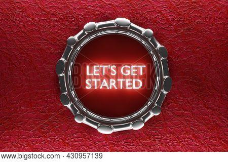3d Illustarion Car Engine Push Start Stop Button Ignition Remote Starter. Let's Get Started